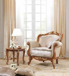 Fenice Art. 1806 - 1906, Poltrona in stile classico in legno intagliato