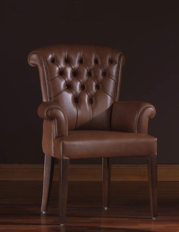 Oxford, Poltrona in pelle ideale per ambienti residenziali e uffici