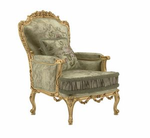 Principessa poltrona, Poltrona in stile classico, finitura oro
