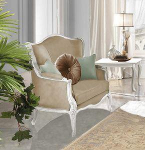 Giulietta Art. 3706 - 3906, Poltrona con intagli