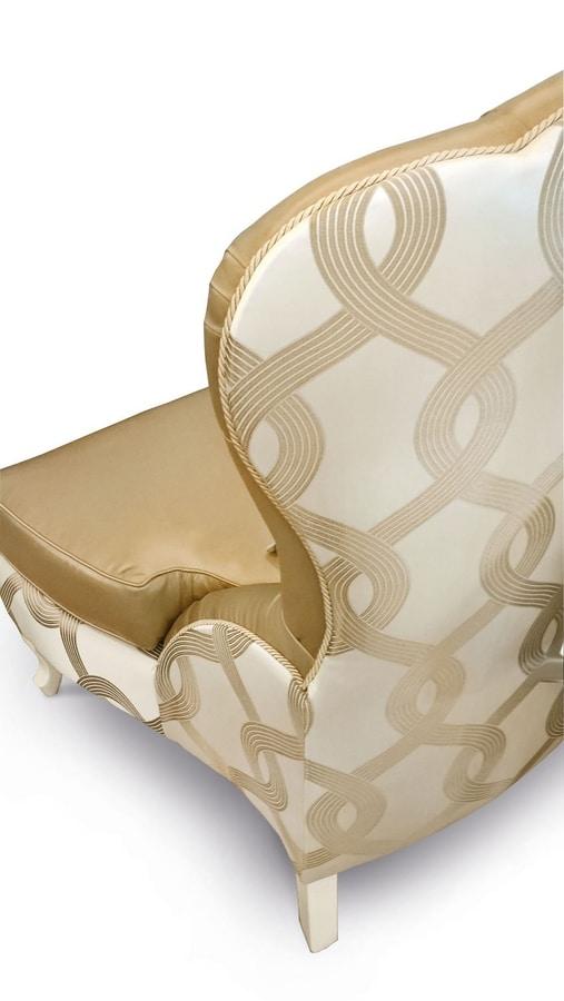 Gold Art. 4626, Poltrona con schienale capitonné