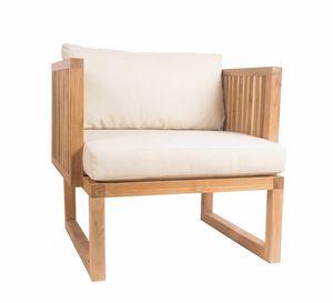 Code 0363, Poltrona in legno teak