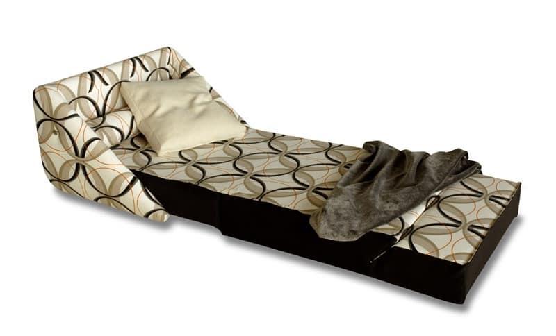 Easy, Poltrona trasformabile in letto, con ruote, sfoderabile