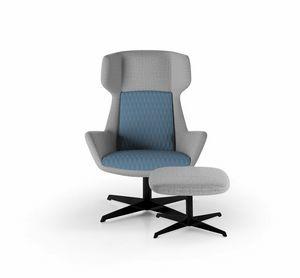 Magenta armchair, Poltrona con schienale alto avvolgente