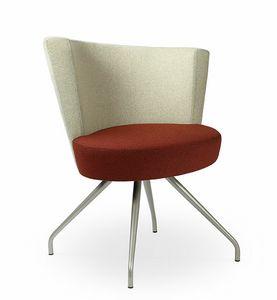 ELIPSE 1F, Poltrona con seduta larga circolare, per uso contract