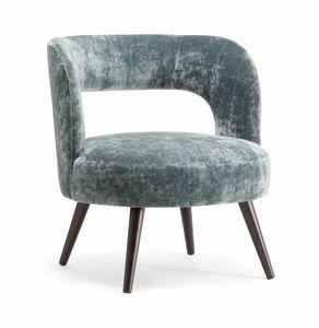 HOLLY LOUNGE CHAIR 065 P, Poltrona con ampia seduta