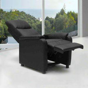 Poltrona Relax Reclinabile con Poggiapiedi in Ecopelle GIULIA - SR611PUN, Poltrona reclinabile con poggiapiedi