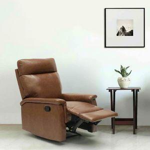 Poltrona Relax Reclinabile con Poggiapiedi in Similpelle Design AURORA - SR642PUM, Poltrona relax reclinabile