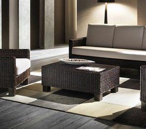 Tavolino Verano, Tavolino rettangolare con struttura intrecciata