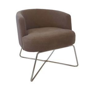 VIENNA LOUNGE METAL, Poltrona lounge con base in metallo