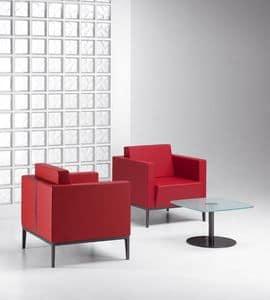 XILON 770, Poltrona moderna imbottita ideale per aree relax e salotti