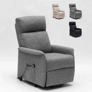 Poltrona Relax Elettrica con Sistema Alzapersona e Ruote Per Anziani Giorgia SR111217W, Poltrona relax elettrica