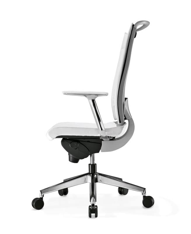 Korium, Sedia per ufficio ergonomica, struttura schienale in polipropilene