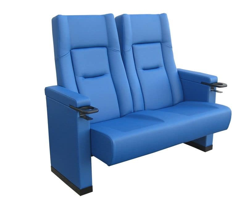 Comfort Rimini love seat, Poltrona imbottita in poliuretano per sale cinema