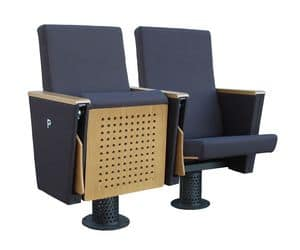 Giada ASC, Poltrona per teatro, seduta ribaltabile, in poliuretano