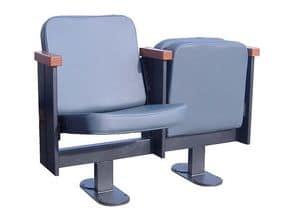 Movia 12, Poltrona con sedile ribaltabile, per teatro e cinema