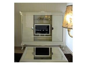 3520 MOBILE PORTA TV, Porta tv in stile contemporaneo, per suite d'albergo