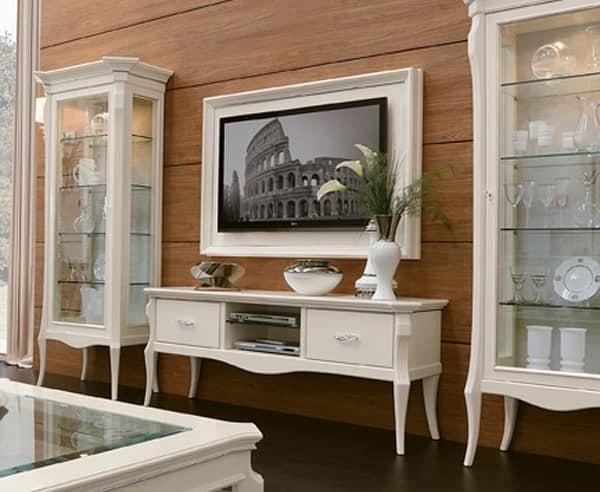 MONTE CARLO / pannello porta TV sospeso con cornicie, Pannello porta tv da parete