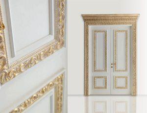Castiglione Art. 1344/QQ, Elegante porta con decori oro sbiancato