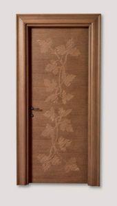 Hyde Park Art. 901/QQ/HP, Porta in rovere con decorazioni artigianali