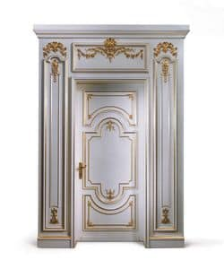 P102 Porta, Porta in legno laccato bianco, per Ingresso classico