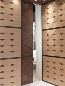 POR03 Galileo porta, Porta scorrevole a scomparsa, per alberghi e ristoranti