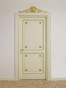 PORTE ART. PT 0002 - PT 0003, Porte laccate con decori dorati, per alberghi di lusso