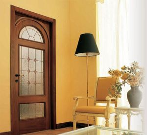 Starnina Art. 1015/TQ/V, Porta in noce con vetri rilegati