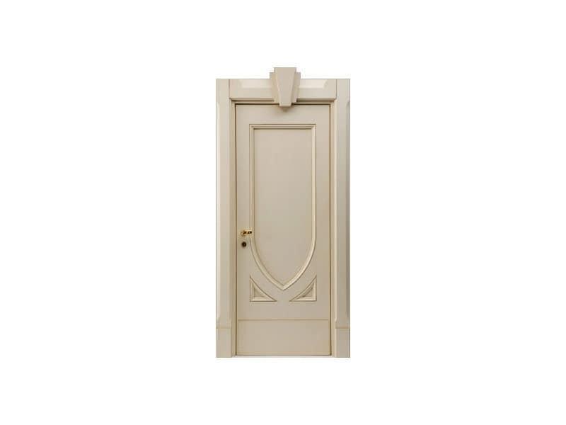 Terminus, Porta fonoassorbente per camere albergo, finitura laccata patinata, serratura antipanico