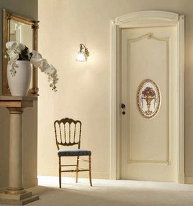 Villa Grabau Art. 713 OV/QQ/A/AP/V, Porta classica con decoro centrale