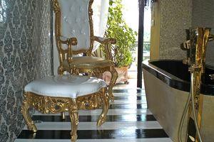 Finlandia S, Pouf classico di lusso per la casa, stile barocco