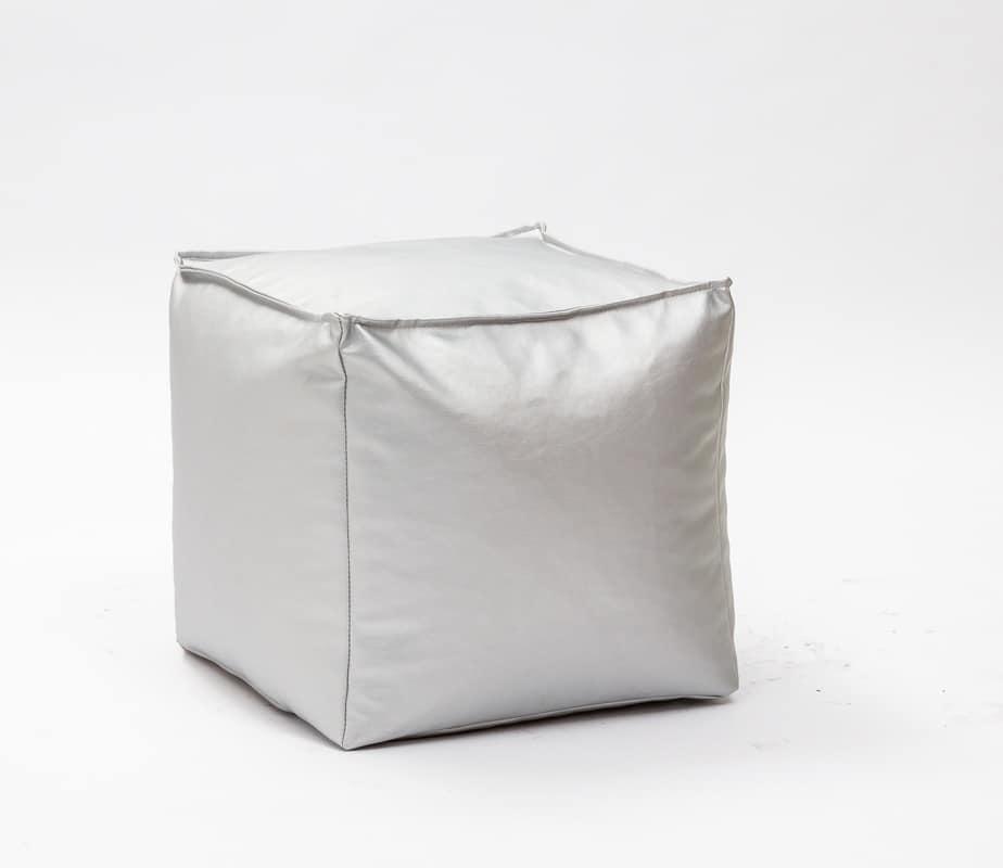 Art. 830 Dado, Pouf in eco-pelle sfoderabile, di alta qualità