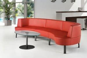 ZEN 731 - 732, Divano modulare moderno ideale per bar e hotel