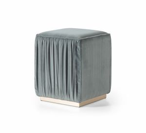 Beverly Art. 609, Pouf in tessuto increspato