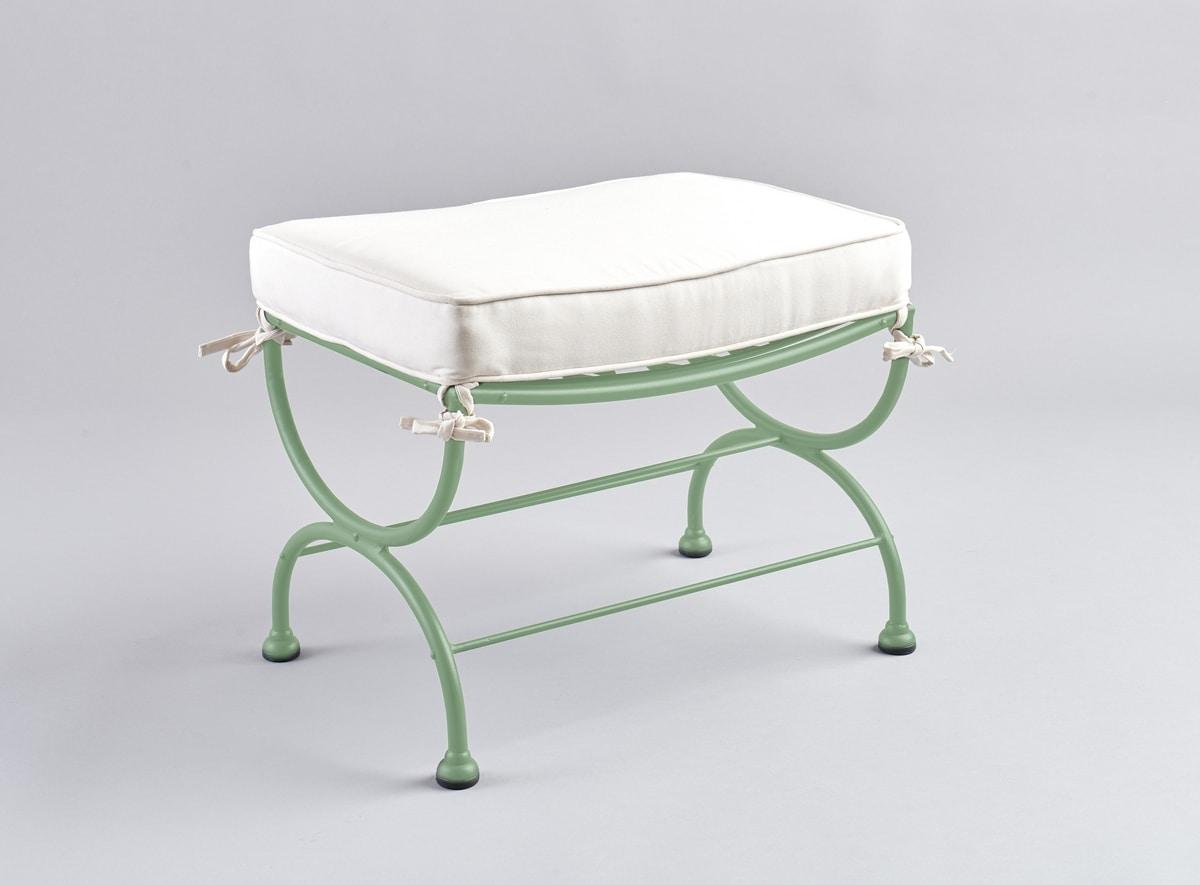 Cuscini Idrorepellenti Per Esterno poggiapiedi in ferro con cuscino per esterno | idfdesign