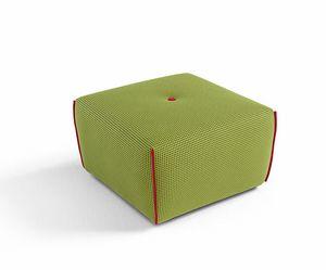 Yuki, Pouf quadrato rivestito in tessuto
