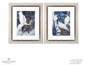 Art and Nature, white herons I - Art and Nature, white herons II - AQ33 - AQ34, Quadri acquerello con aironi
