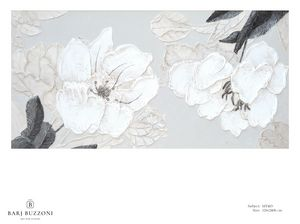 Delicate flowers with leaves - MT483, Quadro floreale con effetto basso rilievo