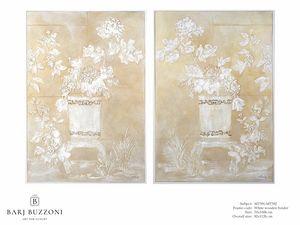 Delicate orient feeling I-II � MT 391-392, Dipinto materico effetto basso rilievo
