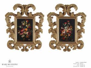 Flowers with vase � H 3898-3899, Dipinti floreali ad olio