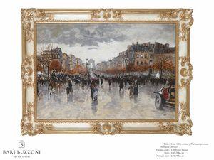 Late 19th Century, parisian Avenue � H 3703, Quadro dipinto ad olio