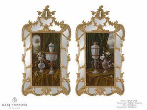 Murano goblet recollection � SP 428-429, Dipinto ad olio, con cornice a specchio