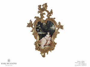 The expectation � H 3826, Quadro con fastosa cornice intagliata