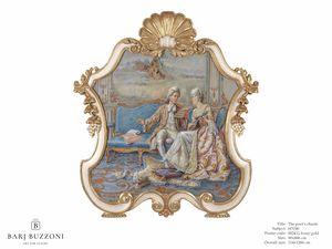 The poet�s charm � H 3740, Dipinto in stile classico, con cornice intagliata