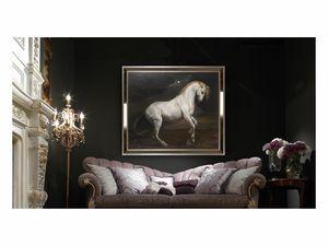 White horse � H 3698, Dipinto ad olio con elegante cavallo bianco