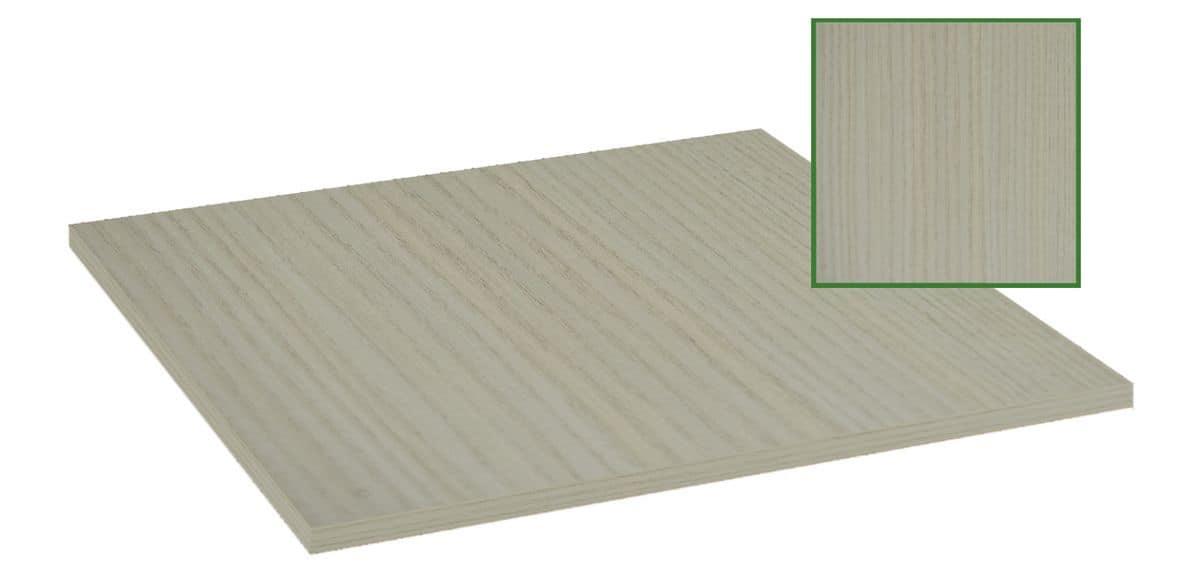Piano tavolo in nobilitato melaminico bianco legno, Piano tavolo in nobilitato melaminico bianco legno