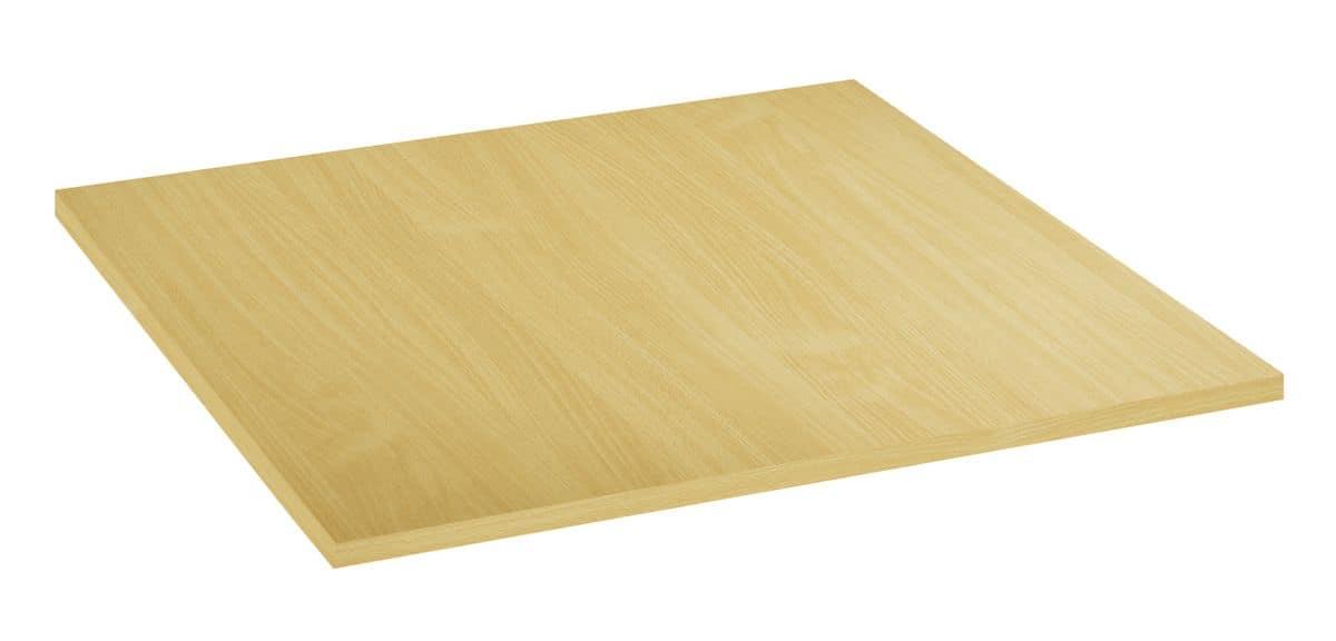 Piano tavolo in nobilitato melaminico faggio naturale, Piano tavolo in nobilitato melaminico faggio naturale