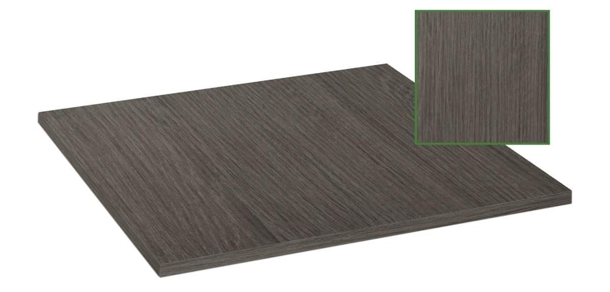 Piano tavolo in nobilitato melaminico grigio ombra, Piano tavolo in nobilitato melaminico grigio ombra