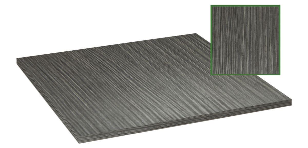 Piano tavolo in nobilitato melaminico grigio, Piano tavolo in nobilitato melaminico grigio