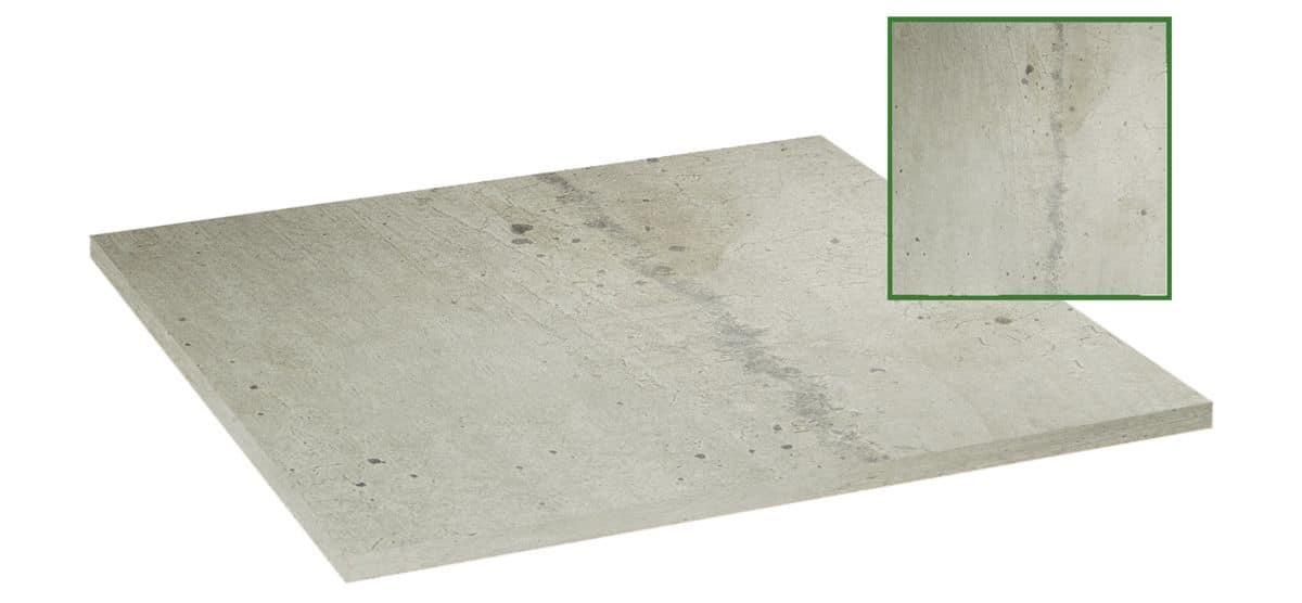 Piano tavolo in nobilitato melaminico grigio pietra, Piano tavolo in nobilitato melaminico grigio pietra